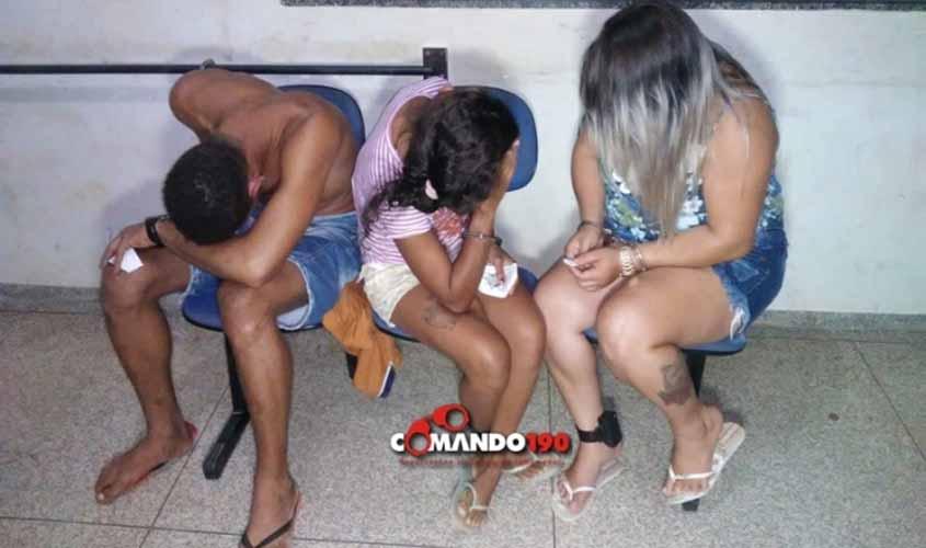 """PM acaba com mais um comércio de drogas em Ji-Paraná e prende duas apenadas que estavam com a """"TZ"""" desligada"""