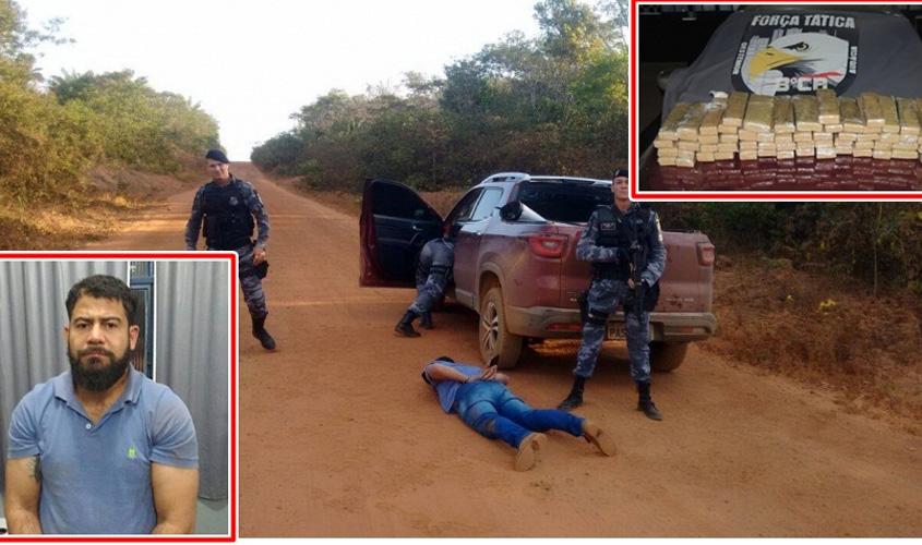 Polícia prende rondoniense com aproximadamente 50 quilos de droga