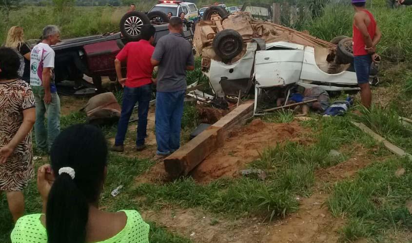 Tragédia: Choque  entre carros deixa seis mortos e um ferido no interior do Estado