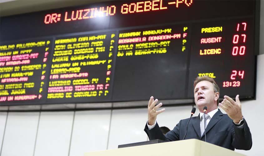 Luizinho Goebel pede aumento no teto de faturamento de micro e pequenas empresas