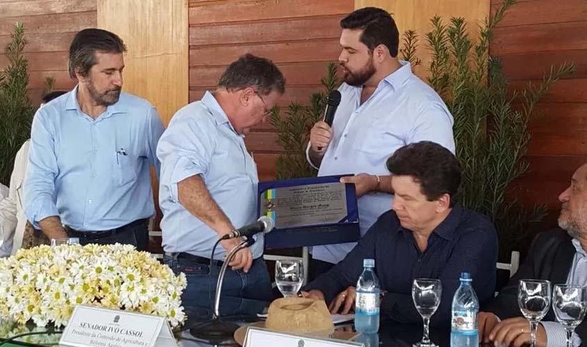Rondônia: Senadores réus prestigiam entrega de título a ministro réu