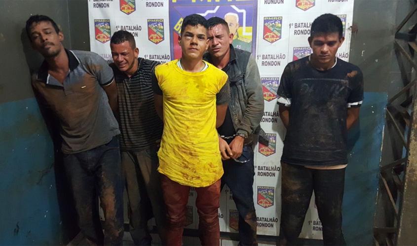 Polícia prende acusados de integrar quadrilha armada