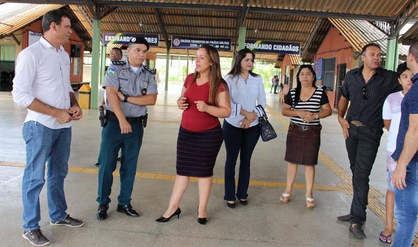 Rosangela Donadon cumpre agenda em Vilhena e realiza visita em Colégio Militar