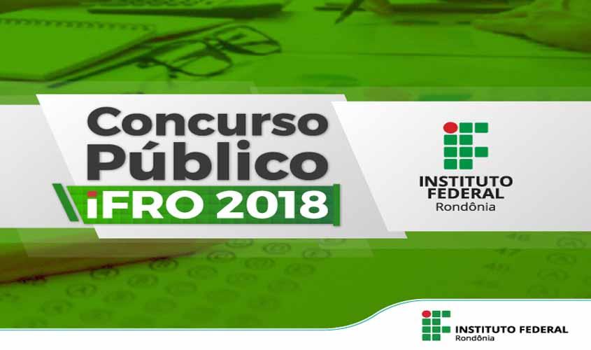 Edital do Concurso Público 2018 é publicado